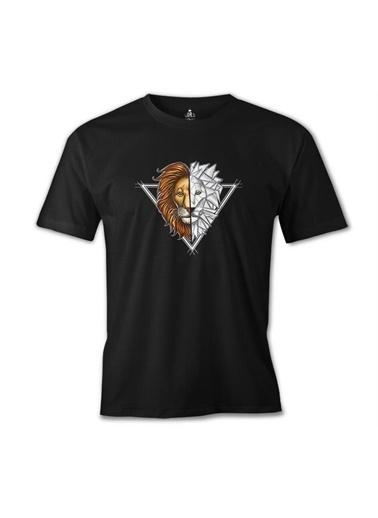 Lord Tshirt Aslan Triangle Siyah Erkek Tshirt Siyah
